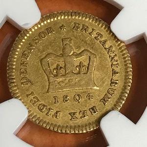 ★【希少】1804 イギリス 1/3ギニー金貨 ジョージ3世 NGC VF30