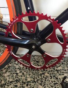Z1653 1個 スプロケット 110BCD 56T ロードバイク 自転車 スプロケット 選べるカラー!黒or赤