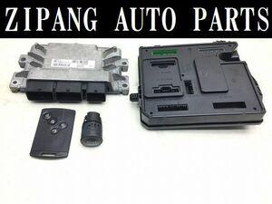 RU005 DZF Renault Megane sport RS F4R engine computer - card key attaching *237102048R * operation OK 0 * prompt decision *