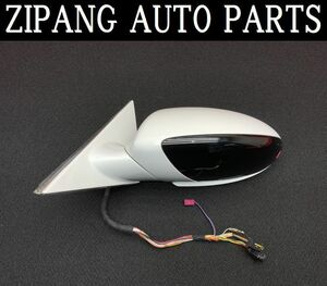 BM087 E60 NA25 525i M sport left door mirror automatic type / wellcome lamp attaching *300 Alpen white * operation OK [ animation equipped ] * * prompt decision *
