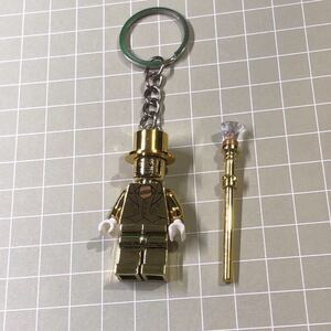 Mr GOLD ミスターゴールド メタル光沢仕様 ミニフィグ LEGO 互換 ミニフィギュア レゴ互換 キーホルダー