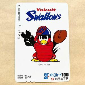 【使用済】 野球メトロカード 営団地下鉄 東京メトロ ヤクルトスワローズ
