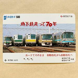 【使用済】 メトロカード 営団地下鉄 東京メトロ 地下鉄走って70年 カードでそのまま 自動改札から自動改札へ