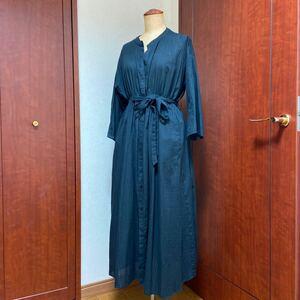 シャツドレス 黒 チュニック風 フリーサイズ ロング丈 simplicite