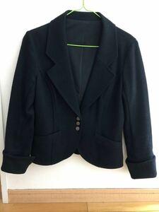 テーラードジャケット 黒 ウール100%