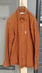 ★送料無料★ hiromichi nakano golf フランネルシャツ ボタンダウンシャツ ヒロミチナカノ チェック柄 Medium