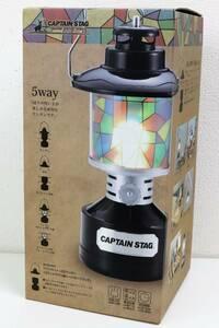 新品 CAPTAIN STAG キャプテンスタッグ UK-4033 ツインライト LEDランタン ステンドグラス風シート付 ブラック☆2997-2