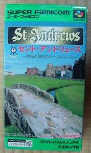 スーパーファミコン ゲーム St. Andrews ~栄光と歴史のオールドコース~ SHVC-ASAJ