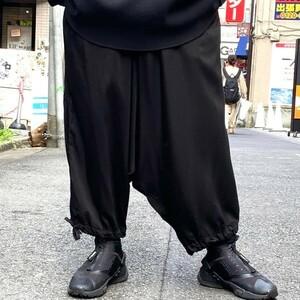 YOHJI YAMAMOTO pour homme  19SS Cupra Twill Classic Sarrouel Pantsサルエルイージーパンツ 商品番号:8069000038378