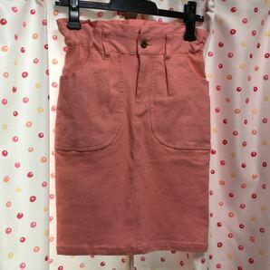 ミスティック 淡いピンク タイトスカート デニムスカート
