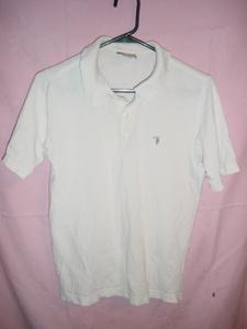 ◆Made in ITALY【TRUSSARDI】製 ポロシャツ 白 欧州XS 日本Sサイズ 他品同梱可!!!