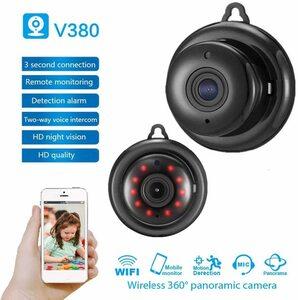 【新品・未使用】監視カメラ Wi-Fi HD V380 IPカメラ ベビーモニター ワイヤレスナイトビジョン モーション検出 2020100001