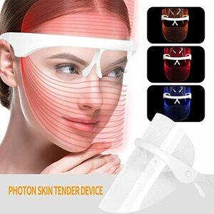 3色光エステ 美白 エイジングケア LED美顔器 美顔マスク 美容 たるみ ほうれい線 美肌 ニキビ対策 コラーゲン生成