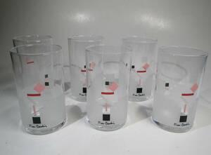 ピエール・カルダン グラス 6個セット 未使用 タンブラー コップ 日本製 pierre cardin デザイナー 佐々木硝子 東洋佐々木ガラス 水割り