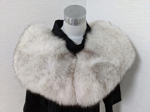 【送料無料】あ321 銀サガ SAGA FOX フォックス リアルファー ショール 大判 肉厚 シルバーラベル 成人式 和装 洋装 マフラー