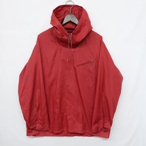O0432 サイズ M程度 古着 ビンテージ 60s 60年代 ナイロン アノラック パーカー プルオーバー ナイロン ジャケット ジャンパー 赤