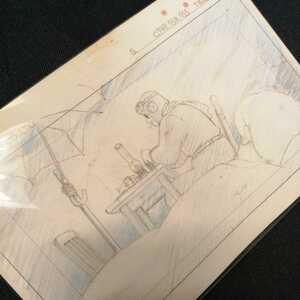 Studio Ghibli .. pig layout cut . inspection ) Ghibli postcard poster original picture cell picture layout exhibition Miyazaki .porukoa