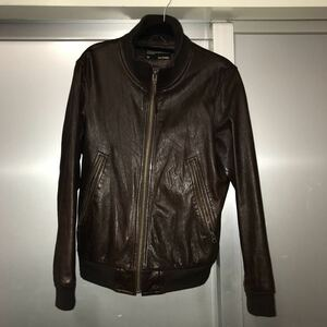 BACK NUMBER レザージャケット サイズM 中古 ブラウン 20201010