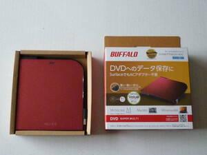 バッファロー BUFFALO ポータブルDVDドライブ DVSM-PT58U2V-RDC USB2.0