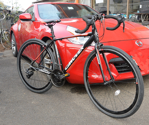☆カノーバー(CANOVER) ロードバイク 自転車 21段変速 アルミフレーム CAR-015 UARNOS 【中古】☆