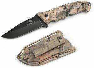 【送料無料】MOSSY OAK ナイフ シースナイフ フルタング構造 切れ味良い 迷彩柄 収納シース付き