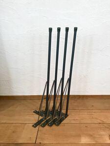 丸鋼のテーブル脚 鉄脚 オーダー可能 アイアン ダイニングテーブル 作業台 カフェテーブル インダストリアル 2