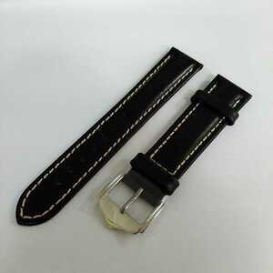 ☆ 20mm ブラック 高品質 牛革 本革レザーベルト 腕時計ベルト 交換用ストラップ 新品未使用