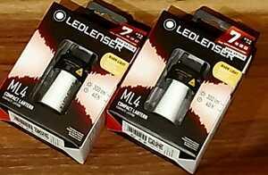 【超人気】【新品】LEDLENSER ML4 WARM レッドレンザー 暖色 2個セット 防災 ランタン 単3電池使用可 LEDランタン キャンプ
