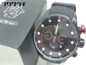 ◇ ◎ FrancTemps フランテンプス 動作未確認 クォーツ クロノグラフ MIGAULT 腕時計 ウォッチ ブラック メンズ