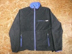 Battenwear バテンウエア メンズ USA製 ナイロン100% アウトドア ジップアップ フリース リバーシブルジャケット グレー 青 サイズS