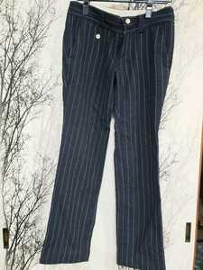 PEARLYGATES パーリーゲイツ golf ボトムス ゴルフ レディース パンツ 紺 サイズ1 ゴルフウェア