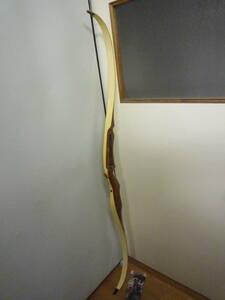 @中古 BEAR ベアー アーチェリー 木製 弓のみ CANADA カナダ 1953 検 ベアボウ ワンピースボウ ビンテージ アンティーク ヴィンテージ