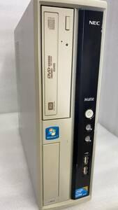 10302 中古パソコン本体 NEC MJ32LLB Corei3+4GB+320GB+OFFICE2019/WIN10/DVDRW