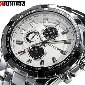 トップブランドの高級フルスチール時計男性スポーツビジネスカジュアルクォーツ腕時計ミリタリー腕時計防水レロジオ販売