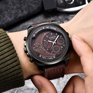 新しい高級有名な時計男性レロジオ Masculino ビジネス時計男性ファッション腕時計リロイ Hombre クォーツ Erkek Kol Saati 時計