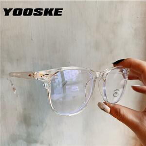 Yooske 2020抗青色光メガネフレーム女性の眼鏡フレームコンピュータ眼鏡ヴィンテージ男性眼鏡透明フレーム