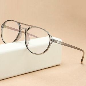 Kottdo ラウンド老眼鏡フレーム男性プラスチックコンピュータ透明女性のためのレトロなメガネフレーム眼鏡光学フレーム