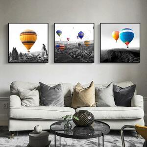 【★★新品★★】※1枚セレクト※ 風景の色バルーン写真家の装飾壁アートキャンバス絵画 黒と白の風景ポスター