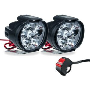 ※2個セット※ オートバイヘッドライト 6500 18kホワイト超高輝度led 照明バイクフォグランプdc 9v-85v スクータースポット