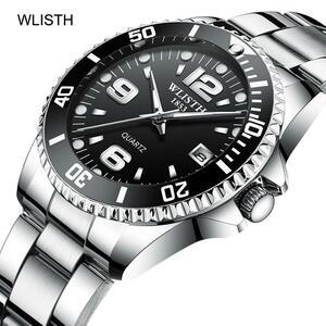 2019 トップブランド WLISTH 高級メンズ腕時計 30 メートル防水日付時計男性スポーツ腕時計男性用クォーツ腕時計レロジオ Masculino