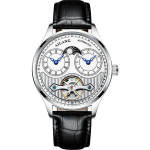 APNUONR・メンズ・自動巻・デュアルタイムゾーン・防水・カジュアル・ビジネス・腕時計