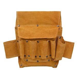 こだわって使いたい!ツールキットバッグ 革 スウェード おしゃれ かっこいい バッグ 多機能 ベルトバッグ 電気 収納袋 イエロー JJ544