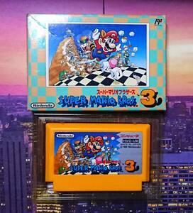【ファミコン スーパーマリオブラザーズ3】ファミリーコンピュータ 任天堂 Nintendo ゲーム マリオ キノコワールド ファンタジー FC