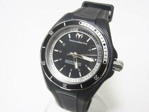 送料無料 TechnoMarine テクノマリーン クルーズスポーツ3 メンズウォッチ 腕時計 ブラック シリコン 替えベルト 110012 超美品