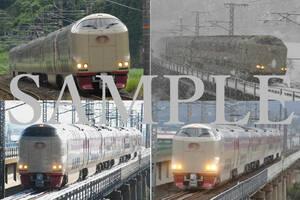 D【鉄道写真】L版4枚 サンライズ出雲
