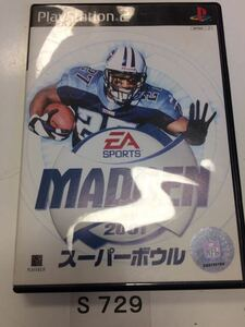 MADDEN 2001 スーパーボウル SONY PS 2 プレイステーション PlayStation プレステ 2 ゲーム ソフト 中古