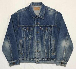 【USA製 】80s LEVIS 70506 リーバイス オリジナルデニムジャケット サイズ40/L相当 インディゴブルー 色落ち Gジャン 米国 アメリカ製