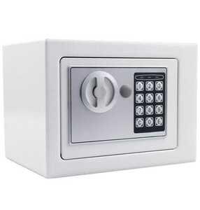 новый товар бесплатная доставка электронный сейф маленький размер сейф магазин офисная работа место для бытового использования сейф цифровая клавиатура белый
