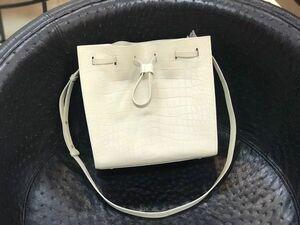 ワニ革 クロコダイル 腹部革使用 本革 レザー 3way 手提げ 肩掛け 斜め掛け ショルダーバッグ トートバッグ クラッチ 鞄 ハンドバッグ
