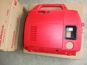HONDA純正品 新品未使用 サイドパネル スタータプロテクトカバー+メンテナンスカバー付 EU18i キャブレター側 色番R280.パワーレッド